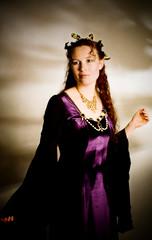 Fantasy Princess (Airchinapilot) Tags: woman leaves necklace costume cookie princess background velvet elf fantasy headdress monolight alienbees b800 strobist sunpak555
