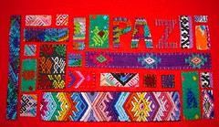 Paz (lachapina) Tags: collage handmade guatemala crafts textiles applique guatemalan huipil