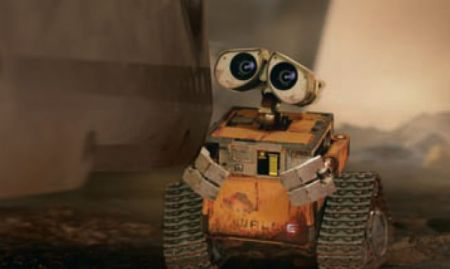 Picture of the star of the upcoming Disney and Pixar film, Wall-E