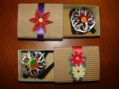 Marcadores de livro ~ Bookmarks (Orquidea) Tags: recycling reciclagem matchbox quilling pulltabs anilhas lacres poptabs punchart poptops quillingcardsandcrafts handmadebyorqudeapires