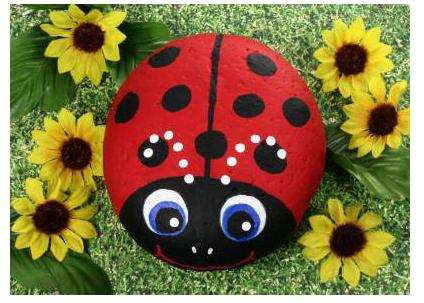 Craft Ideas Canvas on Ladybug Image Copyright Property Of Patty Donathan