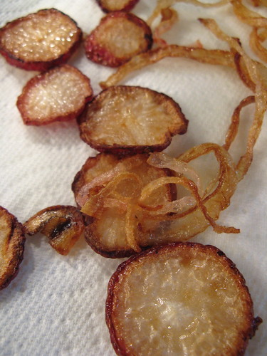 fried radishes