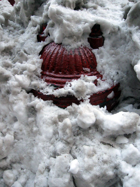 Snow-Covered Fire Hydrant (Click to enlarge)