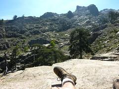 Repos en face des bergeries de Radule et de Punta Cricche