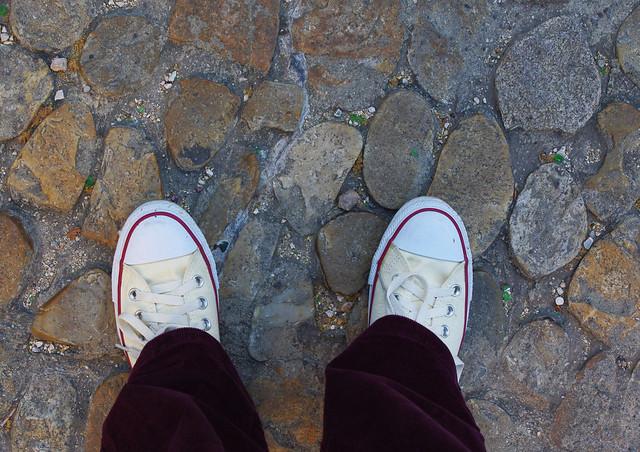 My feet. Avignon, France