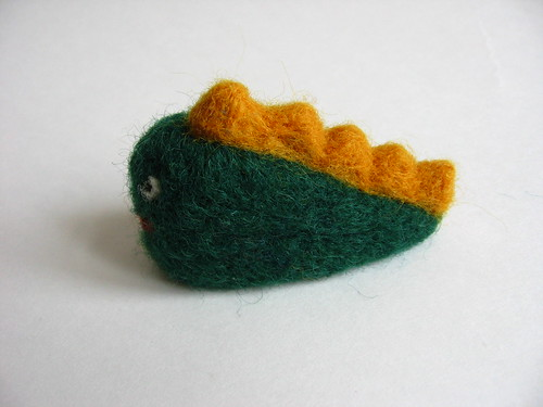 needle felted dinosaur toy