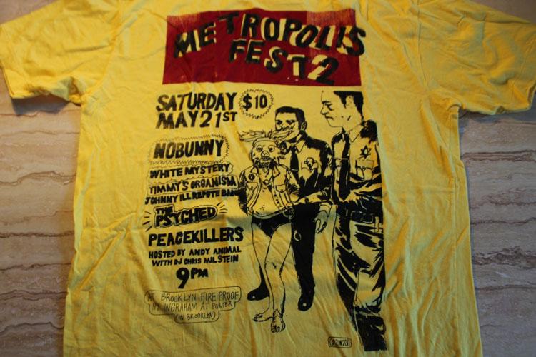 2011/06/06 Metropolise Fest 2 Shirt (Yellow)