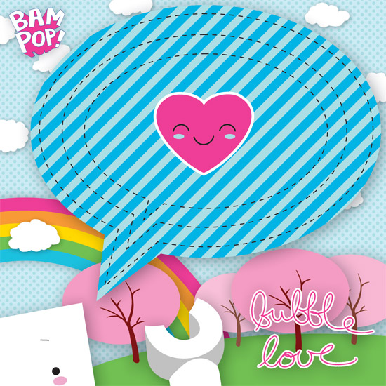 bubble love chipboard