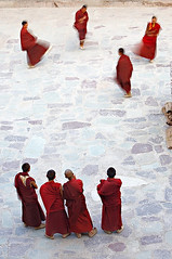 The Dancing Four ( Poras Chaudhary) Tags: red india motion festival four bravo dancing 4 monastery monks leh ladakh tsechu slowshutterspeed hemis hemisgonpa thedancingfour