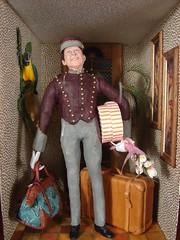 Hotel Lobby Bellhop 1:12 Scale Miniature (MiniatureMadness) Tags: miniatures miniature doll dolls mini dollhouse dollshouse roombox oneinchscale miniaturedoll 112scale dollhouseminiature handcraftedminiature