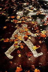 Walking man (tootdood) Tags: road man walking geotagged manchester canon20d oxford geo:lat=5345846 geo:lon=2227371