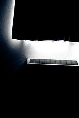 the darkest hour (TerryJohnston) Tags: light black window dark noir blind curtain negativespace heater