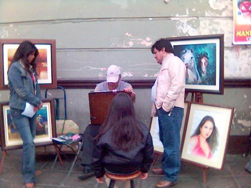 Dibujante en alameda chabuca Granda