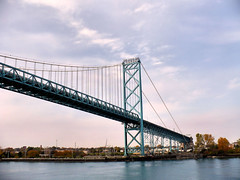 ambassador bridge (*papageorge*) Tags: bridge trees sky water buildings soe supershot mywinners abigfave
