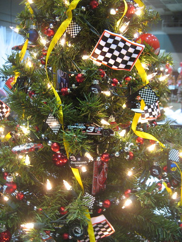 nascar christmas tree theme racecar