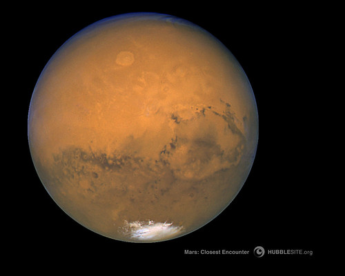 Hubble's Closest view of Mars -- August 27, 2003