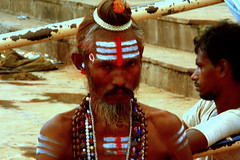 people - sadhu (utpal.) Tags: life blue people bw india color green colors yellow clouds portraits canon landscape happy flickr child indian vivid assam picnik waterscape chandana utpal utpalnath