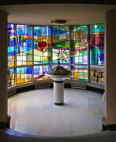 Holy Redeemer Roman Catholic Church, in Webster Groves, Missouri, USA - baptistery.jpg