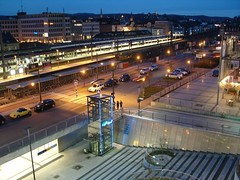 Bielefeld Train Station (WrldVoyagr) Tags: christmas station skyline train germany deutschland bahnhof hauptbahnhof trainstation bielefeld nv11 ostwestfalenplatz