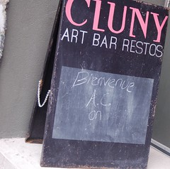 cluny sandwich board