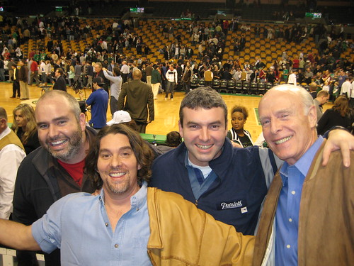 The Bain Men at a Celtics game