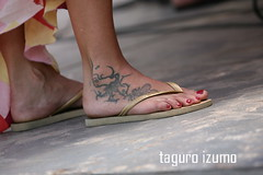 The tattoo series (taguro izumo final) Tags: brazil feet brasil tattoo foot sand havaianas bahia flipflops pratigi universoparalello up8