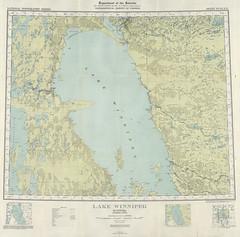 Lake Winnipeg 53L (1931) (Manitoba Historical Maps) Tags: history maps manitoba lakewinnipeg cartographymanitobahistory