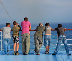 looking back (Werner Schnell (1.stream)) Tags: blue boys water nikon corsica ferries ws mywinners