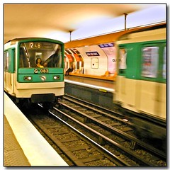 """Le Mtro"" (roy_mac_an_iarla) Tags: two woman motion blur paris station lady female train underground moving movement metro mtro platform rail motionblur transportation visit75007 driver 83 248 traindriver 083 ruedubac womandriver womendrivers twotrains g083"