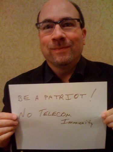 Be a patriot! No telecom immunity.