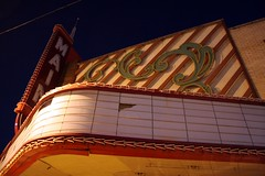 main theater marquee morning