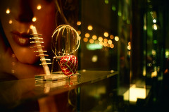 Showcase (*Cyrus`*) Tags: blur golden dof bokeh balls australia melbourne lips showcase crowncasino shotwideopen leicasummicron35mmf20iv fujichromevelvia50rvp konicahexarrflimited