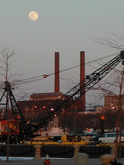 Moon over Cleveland