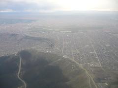 La Paz vue avion ville