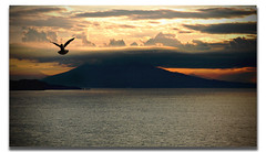 I believe I can fly (gabrielescotto) Tags: red sea sky italy fly bravo italia mare alba napoli naples vesuvio procida surise ibelieveicanfly firstquality gabrielescotto superbmasterpiece diamondclassphotographer flickrdiamond