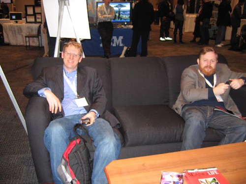 Virtual Worlds 2008 - Ken Hudson on the left