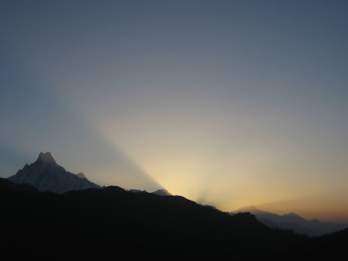 Sunrise over the Annapurna region (as seen from Poon Hill)