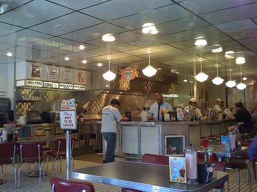 Inside Johnny Rockets, Dupont Circle in Washington DC - Taken With An iPhone