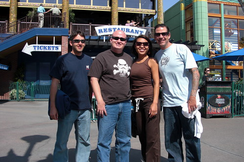 Eric, Rob, Daly and John in front of the House of Blues