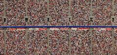 Detail of the FC Bayern Munich fans (Aerial Photography) Tags: people by germany munich bavaria football stadium soccer aerial m fans allianzarena obb 1bundesliga fcbayernmunich