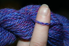 blue merino and silk 2 ply detail