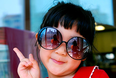 My niece (floridapfe) Tags: people cute girl face fashion kids cool nikon korea shades sunglass protrait aplusphoto