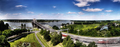 Nijmegen - The Waal Bridge (chop1n) Tags: panorama netherlands nijmegen brug hdr waal autostich 3xp