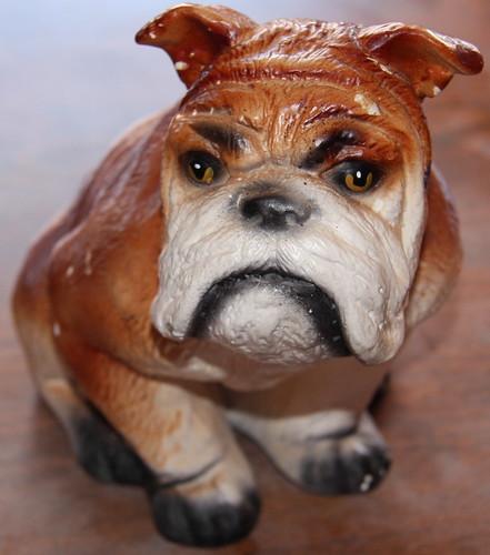 Ceramic Bulldog American In Spain