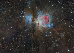 Orion's Sword (Claus Steindl) Tags: skywatcher heq5 pro esprit 80 ed triplet apo canon eos 6d 6da astromodified orion orions sword schwert des sky night astrofotografie astrophotography m42 m43 running man nebula great lacerta mgen pixinsight photoshop astrometrydotnet:id=nova1942389 astrometrydotnet:status=solved