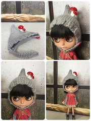 Blythe Mushroom Hat.. listing in my etsy store now. Availabe and ready to ship!!
