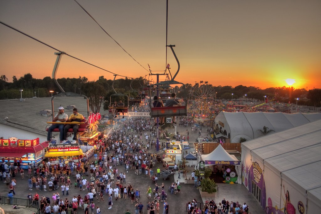 OC Fair at Sunset