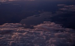 Is it a lake or a river? (Phaneesh N) Tags: london clouds inflight arial