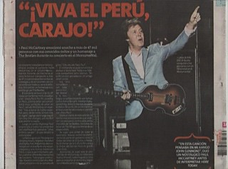 Peru Press - Up and Coming Tour