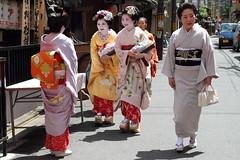 Gion (Teruhide Tomori) Tags: travel festival japan canon kyoto traditional maiko geiko 京都 kimono obi gion 着物 kanzashi 芸妓 舞妓 帯 花街 かんざし 祇園東 観亀神社大祭